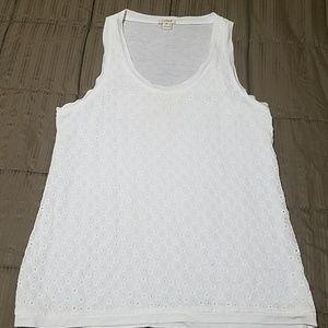 4 for $25 J Crew white eyelet sleeveless blouse XS